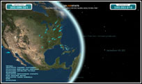 Screenshot 3D Live Stats - View of the United States